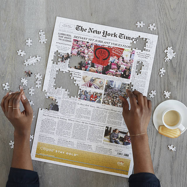 personalized gifts for dad custom New York Times puzzle