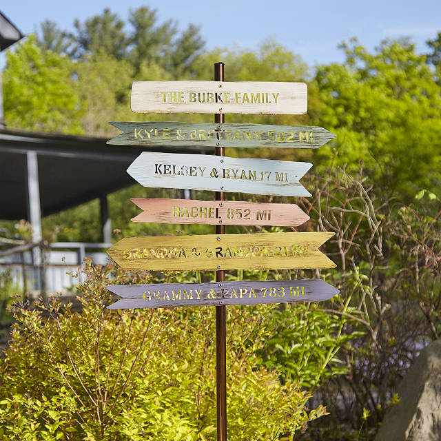 personalized gifts for dad custom family signposts
