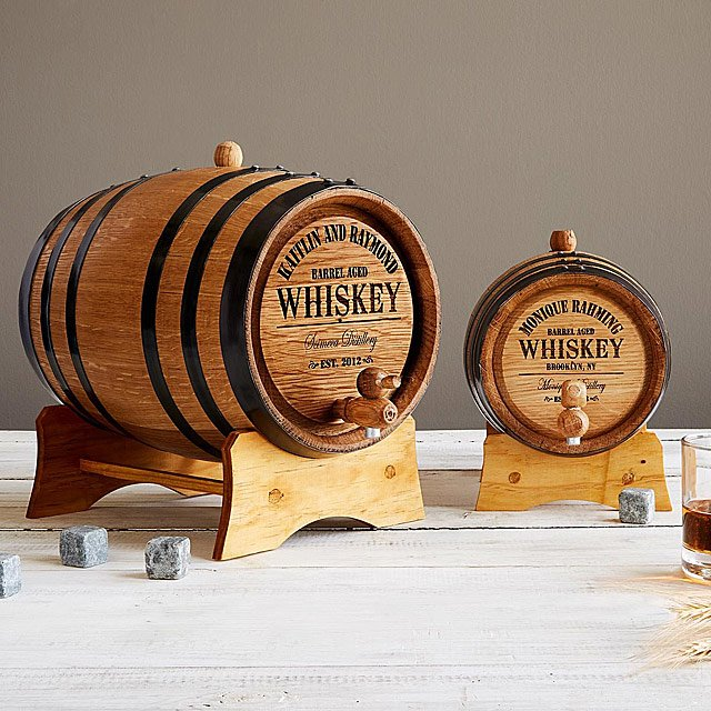 personalized gifts for dad custom whiskey barrel