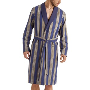 Hanro Night & Day Striped Cotton Robe