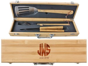 personalized gifts for dad engraved bbq grill set