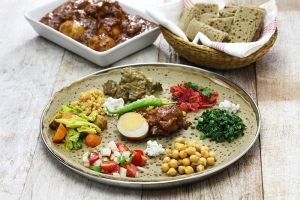 Ethiopian food, healthy takeout options