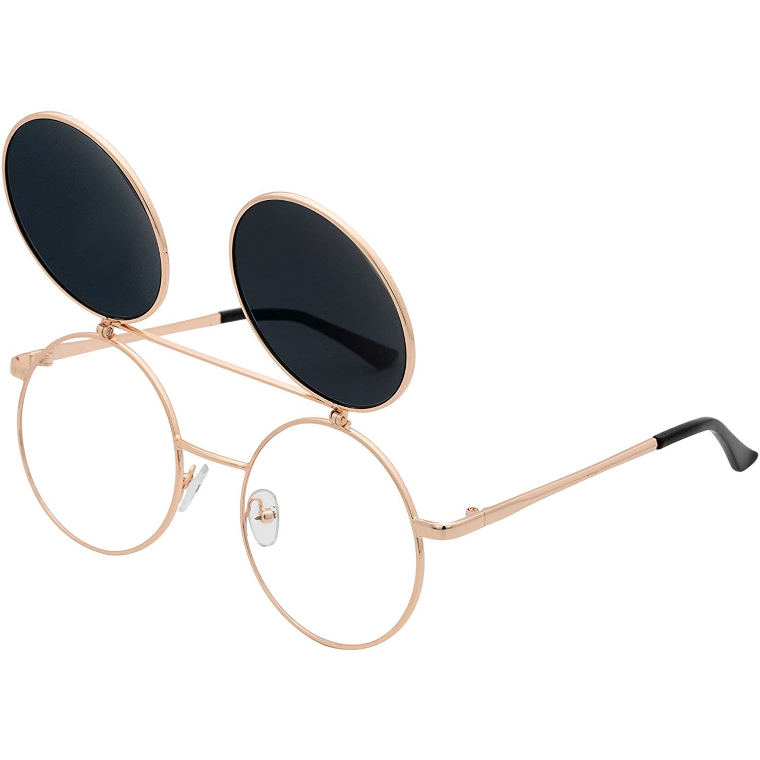 J&L Glasses Retro Flip-Up Sunglasses