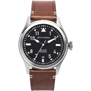 Jack Mason Aviation Leather Strap Watch