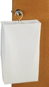 Household Essentials Hanging Cotton Canvas Laundry Hamper Bag