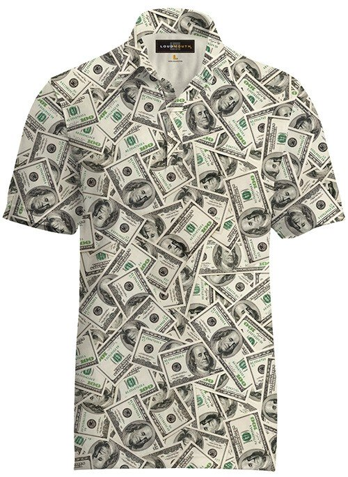 best men's golf shirts - loudmouth dollar print polo