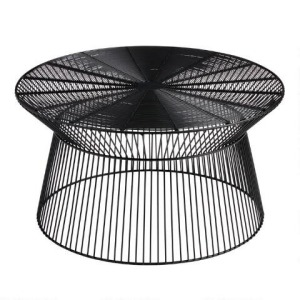 Round Black Metal Zeke Outdoor Coffee Table