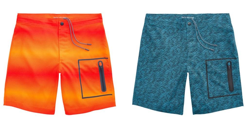 best swim trunks - mack weldon board shorts
