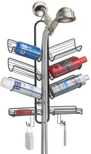 mDesign Metal Wire Bathroom Tub & Shower Caddy