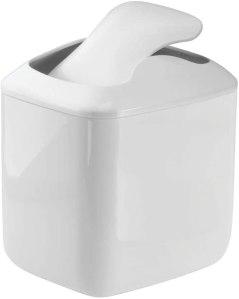 mDesign Modern Plastic Square Mini Wastebasket