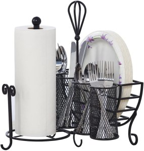 Mikasa Storage Caddy with Paper Towel Holder