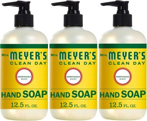 Mrs. Meyer's clean day hand soap, antibacterial hand soap