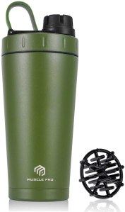 Muscle Pro Stainless Steel Insulated Protein Shaker