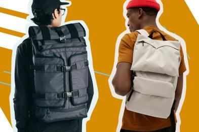 two men in backpacks