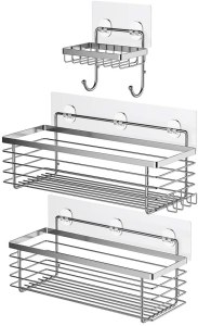 ODesign Shower Caddy Basket with Hooks