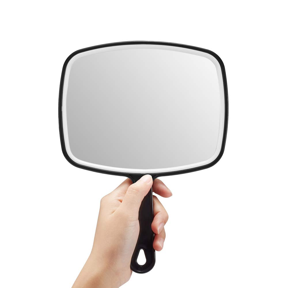 Omiro black handheld mirror