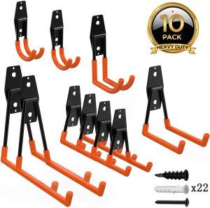 ORASANT 10-Pack Steel Garage Storage Utility Double Hooks