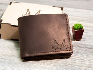 personalized gifts for dad personalized leather wallet