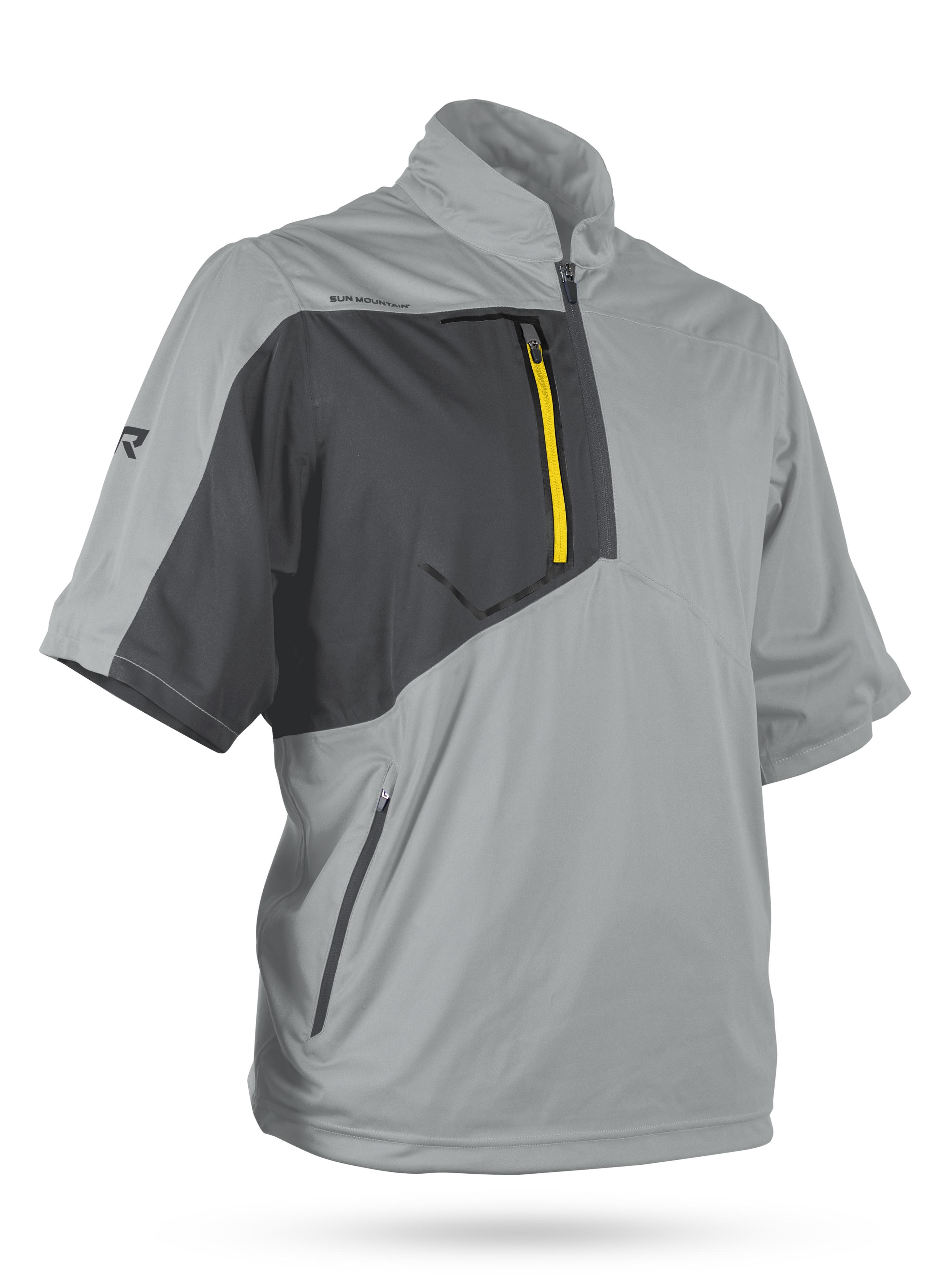 best men's golf shirts - sun mountain gray golf polo