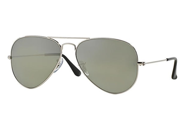 ray ban aviator glasses for men with silver frames and grey polarized lenses, best aviator sunglasses