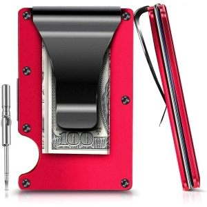 EliveBuy Minimalist Carbon Fibre Slim Wallet