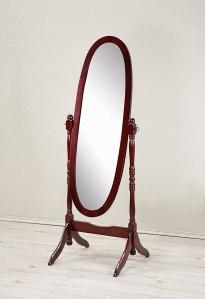 Roundhill Furniture Queen Anna Style Wood Floor Cheval Mirror