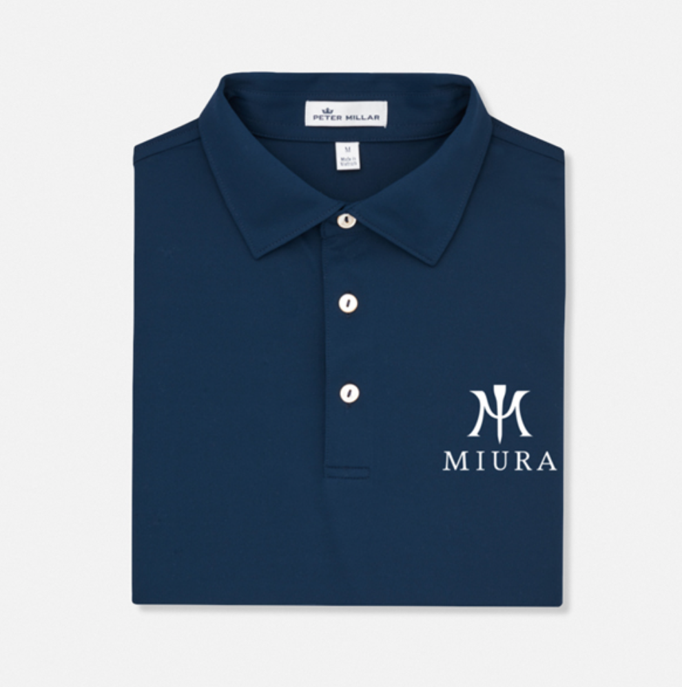 best men's golf shirts - miura polo