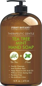 first botany tea tree mint hand soap, antibacterial hand soap