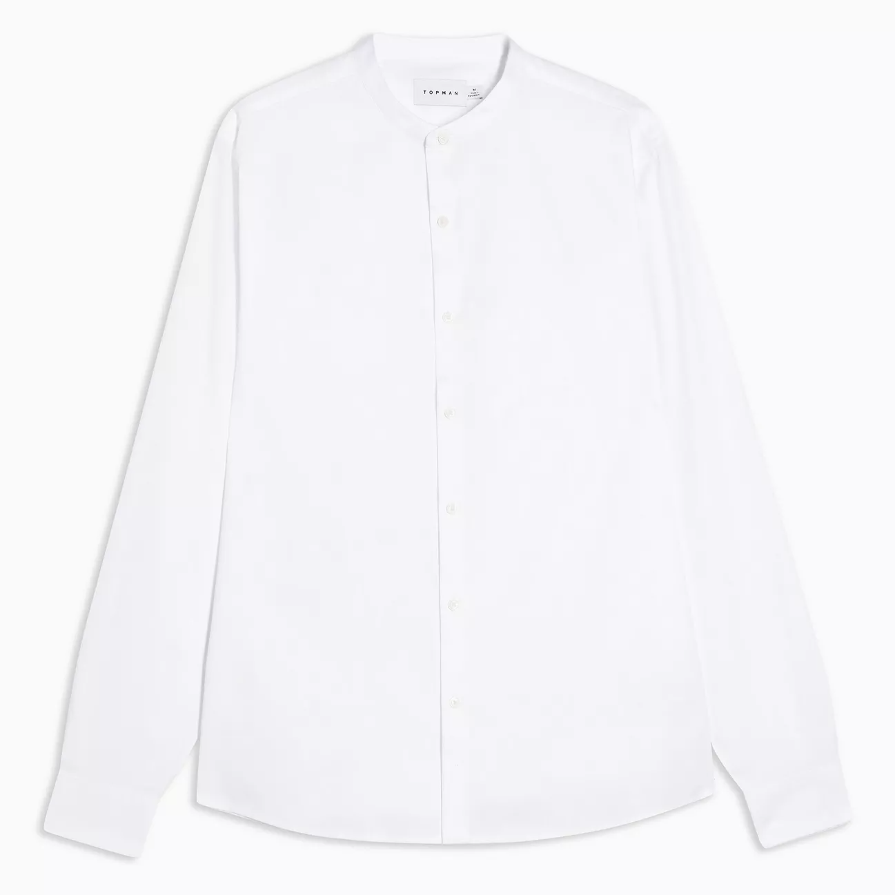 Topman white grandad collar slim shirt