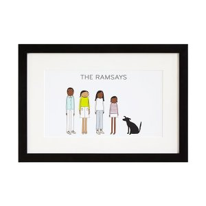 best gifts from uncommon goods - Personalized Family Print