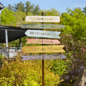 most unique gifts from uncommon goods - Personalized Family Member Signpost