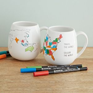 most unique gifts from uncommon goods - Color Map Mugs
