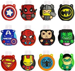 Cute Cartoon Kids Portable Travel Keyring Containers