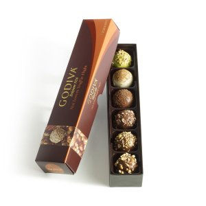 Godiva Chocolatier Nut Lovers Chocolate Truffle Flight
