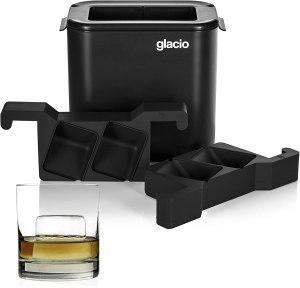 clear ice tray whiskey glacio