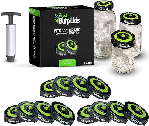 Burp Lids 12 Pack Curing Kit For Home Harvesters best weed storage