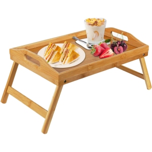 Bamboo bed tray table