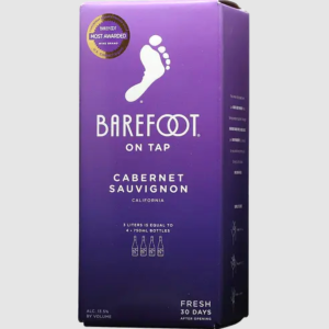 best boxed wine barefoot on tap cabernet sauvignon