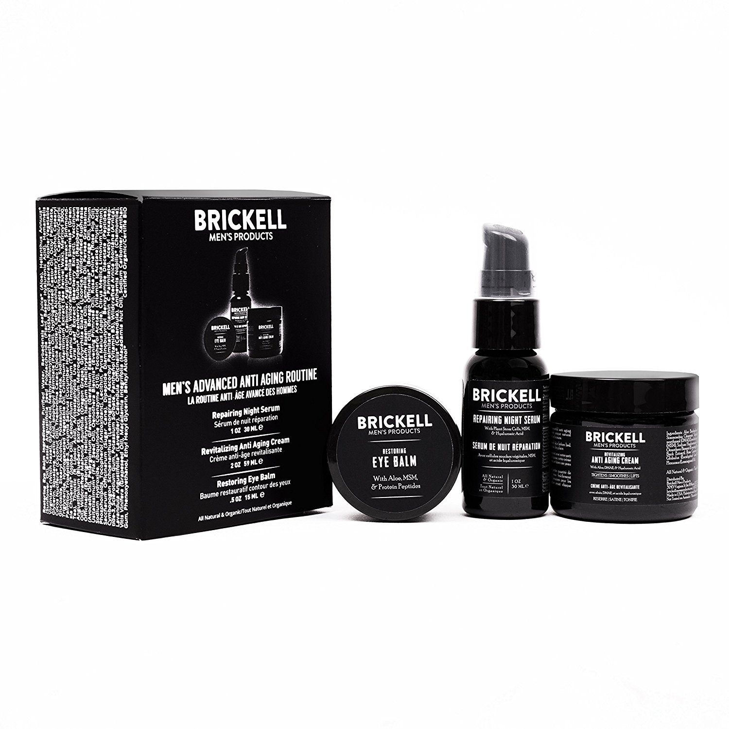 Brickell Men's Advanced Anti-Aging Routine; best men's skincare products