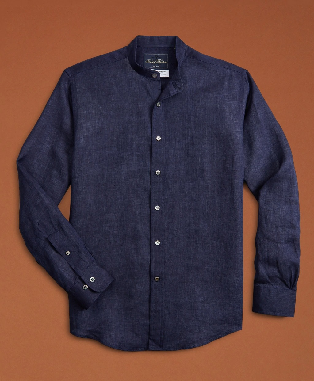 Brooks Brothers Band Collar Linen Shirt