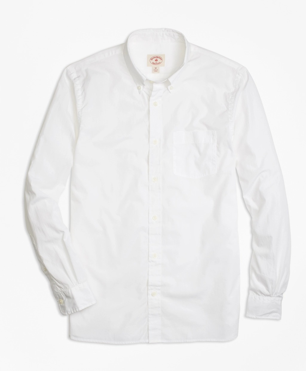 Brooks Brothers white button-down shirt that can be monogrammed