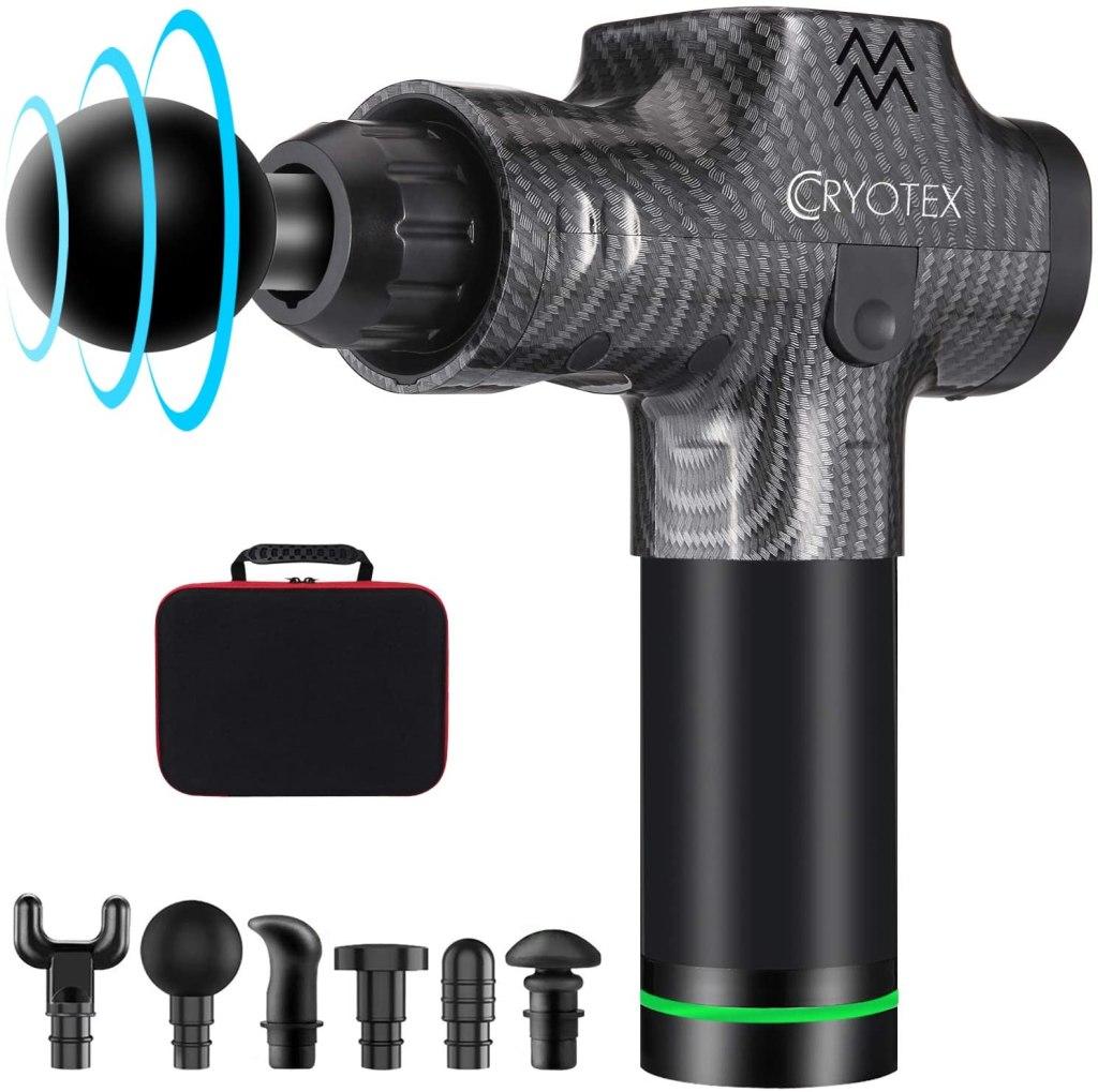 Cryotex massage gun, best massage guns, theragun alternatives