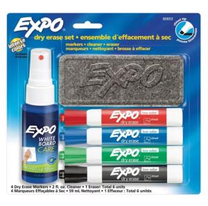 expo dry erase marker starter set