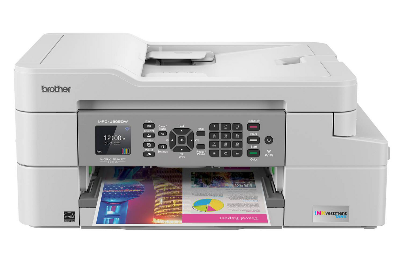best home printer - Brother INKvestment MFC-J805DW Wireless All-In-One Printer