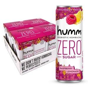 humm probiotic kombucha zero sugar raspberry lemonade
