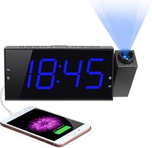 mesqool projector alarm clock