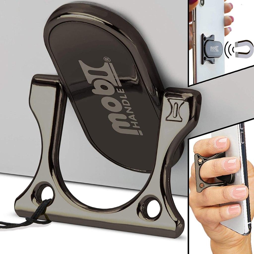 Mobi Handle 3 Finger Phone Ring Holder Kickstand