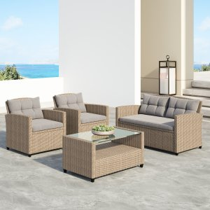 Wayfair wicker patio set, outdoor patio sets