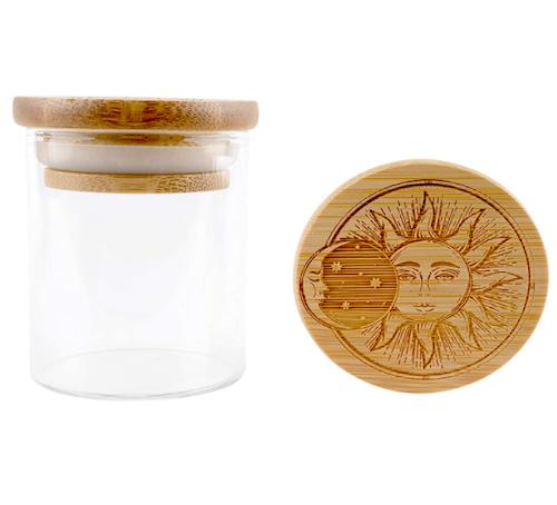 Hakuna Supply Glass Storage Jar With Decorative Bamboo Lid