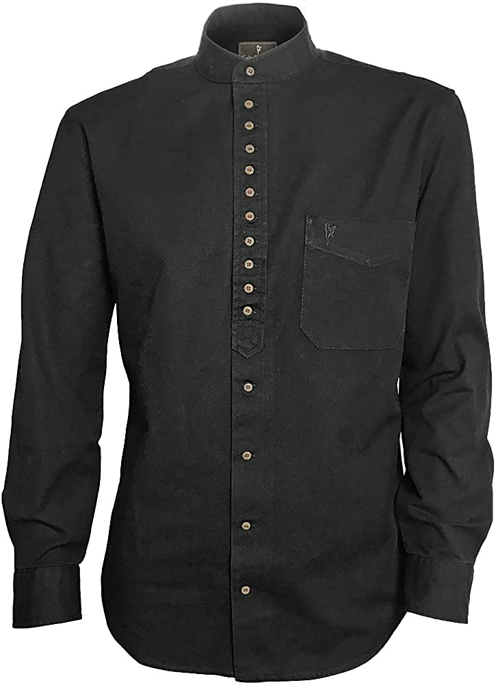 Traditional Irish Grandfather Collarless Shirt